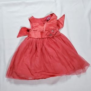 2T Punky Salmon Flower Dress